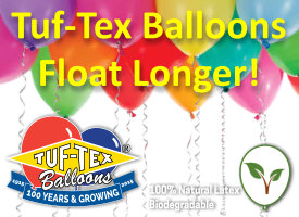 Exceptionally Long floating times of TufTex Balloons available from Balloon Supply & Distribution Ltd.