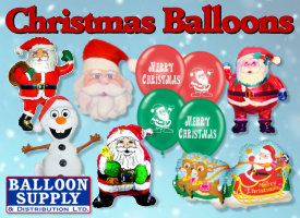 Christmas Balloons available now!